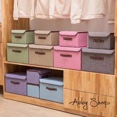 Abby生活百貨》北歐風棉麻收納箱 (大號) 三層櫃抽屜置物盒 仿棉麻收納箱 摺疊收納箱 摺疊整理箱
