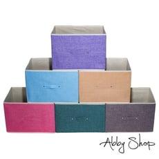 Abby生活百貨》新北歐風棉麻收納箱 三層櫃抽屜置物盒 摺疊收納箱 摺疊整理箱 收納【166808】