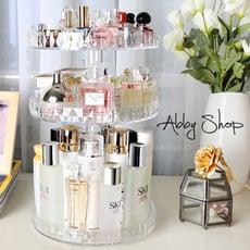 Abby生活百貨》新鑽石360度 旋轉化妝品收納盒 化妝櫃 壓克力收納盒 居家收納 化妝收納 收納架