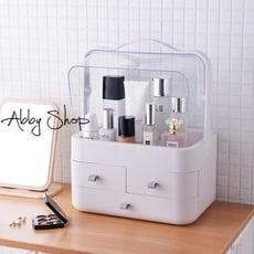 Abby生活百貨》大容量 防塵化妝品收納箱 防塵化妝箱 化妝品收納盒 抽屜收納櫃 化妝品收納