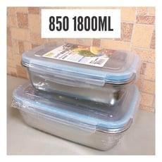 304不鏽鋼保鮮盒(850+1800ml)