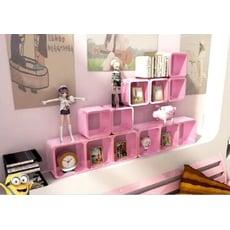 宜家家居烤漆創意格子正方形邊長30cm隔板牆上置物架壁掛裝飾書架
