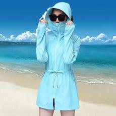 夏季新款中長款防紫外線長袖薄款外套