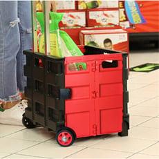 中款三色 萬用折疊購物收納車 購物車