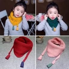 CJ嚴選-小小文青 兒童 三角流蘇圍巾 保暖圍巾 造型圍巾