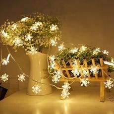 溫暖浪漫 LED雪花燈串