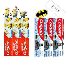 高露潔 兒童牙膏 小小兵/蝙蝠俠造型- 40gx3