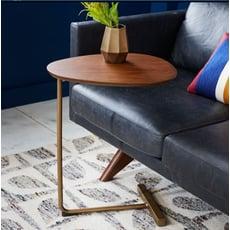 邊桌 餐桌  桌子 茶几  邊幾  創意簡約鐵藝沙發邊幾角幾可移動實木床邊桌邊角桌客廳迷妳小茶幾