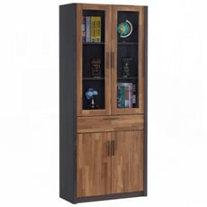 【obis】雷恩2.7尺雙色中抽書櫃