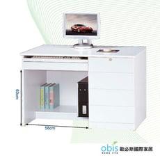 【obis】資訊3.5尺白色電腦桌下座