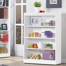 布萊尼白色耐磨2.6*4尺開放書櫃