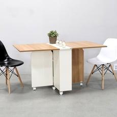 DIY簡易伸縮可移動折疊餐桌1.4米wt043-4