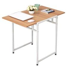 DIY簡易伸縮可折疊餐桌-白色框