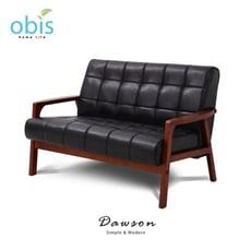 Dawson現代風復古雙人皮質沙發