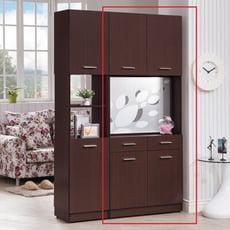 【obis】克萊兒胡桃2.7尺玄關屏風雙面鞋櫃