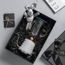 【PO:Selected】丹麥手沖咖啡禮盒組(手沖咖啡壺-共2色/咖啡玻璃杯240ml-共4色)