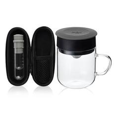 【PO:Selected】丹麥咖啡泡茶兩件組 (咖啡玻璃杯240ml-共5色/試管茶格-共4色)