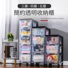 IDEA-北歐現代透明三層收納櫃