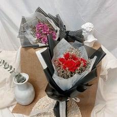 晞·無悔 五朵玫瑰情人節限定花束 乾燥花束 - 花束含提袋(花束顏色麻煩備註喲!