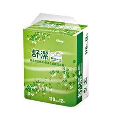 【舒潔】抽取式衛生紙-110抽(12包x6串/箱)