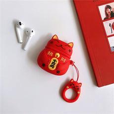 【招財貓款】蘋果耳機收納盒