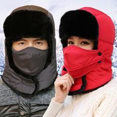 保暖防水加厚頸部保暖附口罩 雷鋒帽