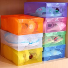 彩色塑膠透明鞋盒 收納盒