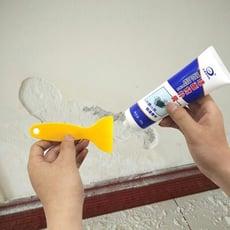 牆面修補膏 補土膏 批土 附刮刀 250g/條 牆面破損裂開 畫痕釘眼裂縫 坑洞快速修復