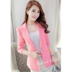 韓版修身顯瘦長袖小西裝外套