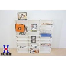 《齊天大師》14英吋多格多層組合櫃 收納 組合櫃 收納櫃 專輯櫃 衣櫃 床頭櫃 包包櫃 屏風 展示櫃