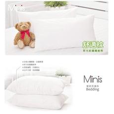 MiNiS 舒適枕頭 新光紡織纖維棉 絕不起塵螨 台灣精製 品質保證(一入裝)