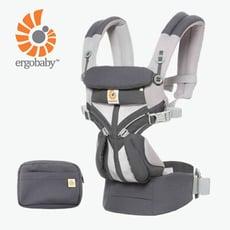 【Ergobaby】 Omni全階段型四式360透氣款嬰兒揹巾/揹帶-碳灰