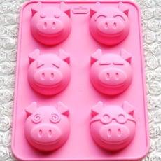 小豬六格模 皂模