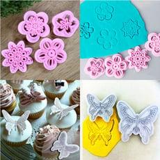 翻糖壓模 雪花&蝴蝶 印花模 翻糖蛋糕模 想購了超級小物
