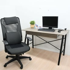 A字抽屜電腦桌 工作桌 書桌 辦公桌 深漂流木120公分(電線孔座)台灣製 | 喬艾森