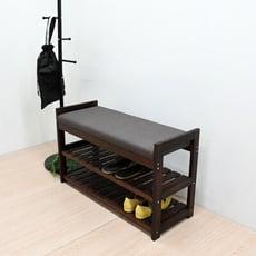 日式經典松木貓抓皮穿鞋椅 椅凳 椅子 鞋架 收納架 | 喬艾森