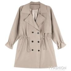秋季新款流行英倫風中長款風衣女韓版寬鬆小個子中款大衣外套