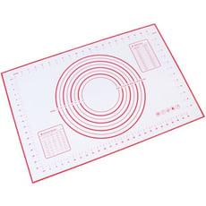 廚房不粘烘焙硅膠墊加大號長方形揉面墊食品級家用耐高溫搟面墊 - 40*60cm大號