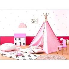 <現貨免等>兒童印地安帳篷Teepee,小公主帳篷,寵物帳*- 粉紅色