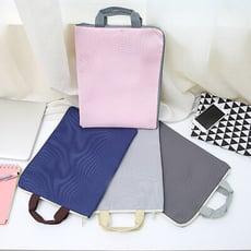 多層 A4 文件袋 帆布 多功能 公文包 公事包 手提袋 收納袋 手提包 手提電腦包 筆電包
