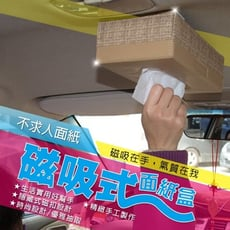 典藏 磁吸式面紙盒(單色)專利超強吸鐵 居家/冰箱/辦公室隔板磁吸式面紙盒