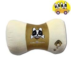 【安伯特】法鬥犬蝴蝶枕 車用頸枕 靠枕 辦公室瞌睡枕 沙發靠枕 卡通圖案 透氣 排濕 可拆洗