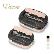 MASIONS 美心 Victoria 頂級304不鏽鋼多功能分隔保溫便當盒上蓋附餐具-大\小