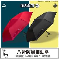 防風雨傘 自動傘 黑膠不透光 雙人傘 傘 抗UV雨傘 折傘 晴雨兩用 摺疊傘