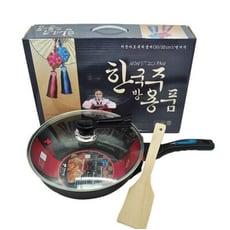 韓國麥飯石32CM不沾炒鍋三件組