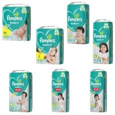 【Pampers】 綠色幫寶適日本境內彩盒版-黏貼/褲型 /2箱