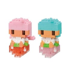 【日本 KAWADA河田】Nanoblock迷你積木(一組兩款) 雙子星KikiLala與草莓