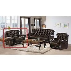 【新精品】YE-A233-07 艾德法式咖啡色二人座皮沙發 (圖二紅框內不含其他商品) 台北到高雄滿