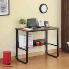 【RICHOME】華特100CM收納工作桌/電腦桌/辦公桌/書桌/U型鐵腳加粗4CM (2色)