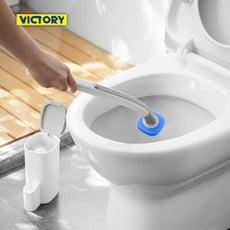 【VICTORY】浴室免洗劑一次性拋棄式清潔馬桶刷(2桿16替換)#1028017